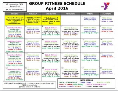 April 2016 Fitness